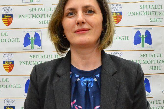 Alina Graur, noul  manager al Spitalului de Pneumoftiziologie Sibiu