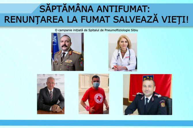 Săptămâna Antifumat:   – AFT, ISU și Crucea Roșie, alături de medici, în Săptămâna Antifumat    –
