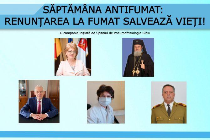 Săptămâna Antifumat: Noi mesaje antifumat de la autorități și medici sibieni